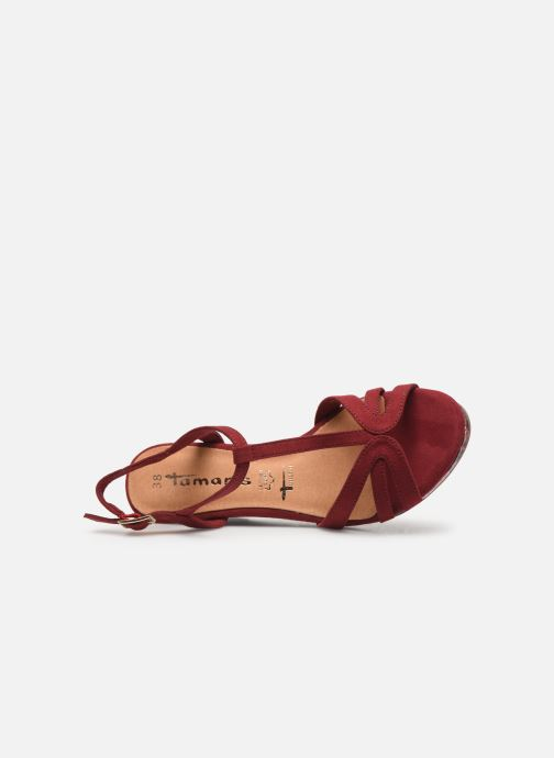 Sandales et nu-pieds Tamaris ISOR Bordeaux vue gauche