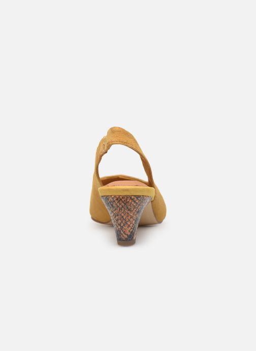 Zapatos de tacón Tamaris JOANA Amarillo vista lateral derecha