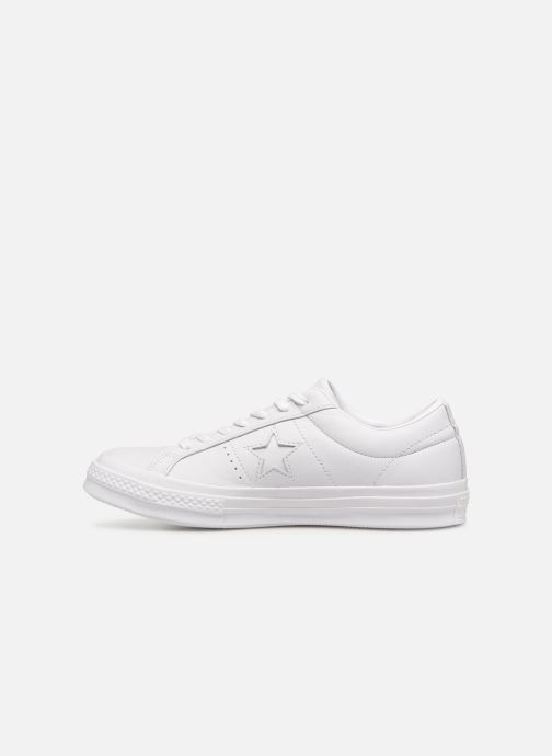 Baskets Converse One Star Triple Leather Ox Blanc vue face