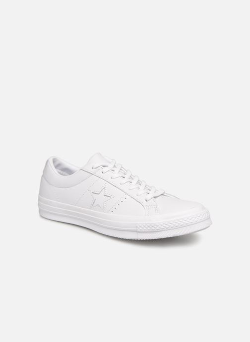 Baskets Converse One Star Triple Leather Ox Blanc vue détail/paire