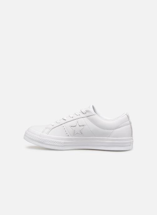 Sneaker Converse One Star Triple Leather Ox W weiß ansicht von vorne