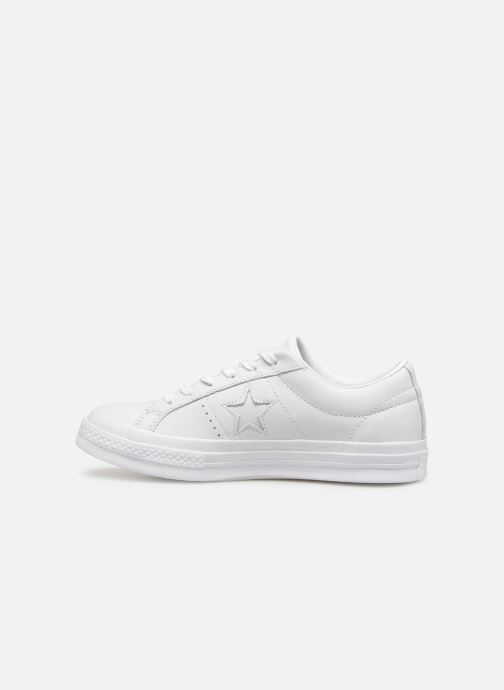 Baskets Converse One Star Triple Leather Ox W Blanc vue face
