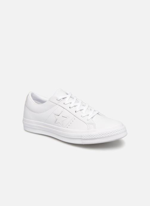Deportivas Converse One Star Triple Leather Ox W Blanco vista de detalle / par