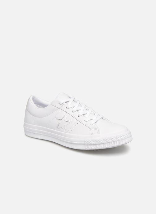 Sneaker Converse One Star Triple Leather Ox W weiß detaillierte ansicht/modell