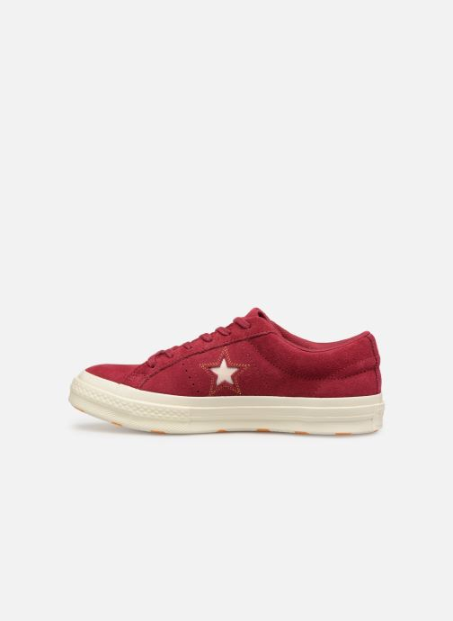 Baskets Converse One Star Love in The Details Ox Bordeaux vue face