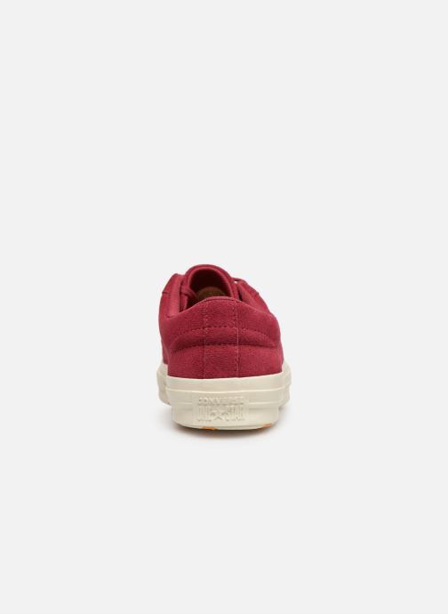Baskets Converse One Star Love in The Details Ox Bordeaux vue droite