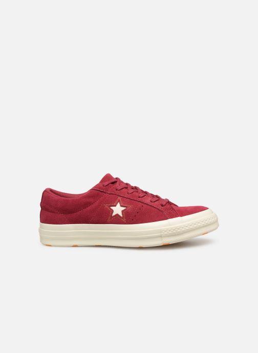 Sneakers Converse One Star Love in The Details Ox Vinröd bild från baksidan