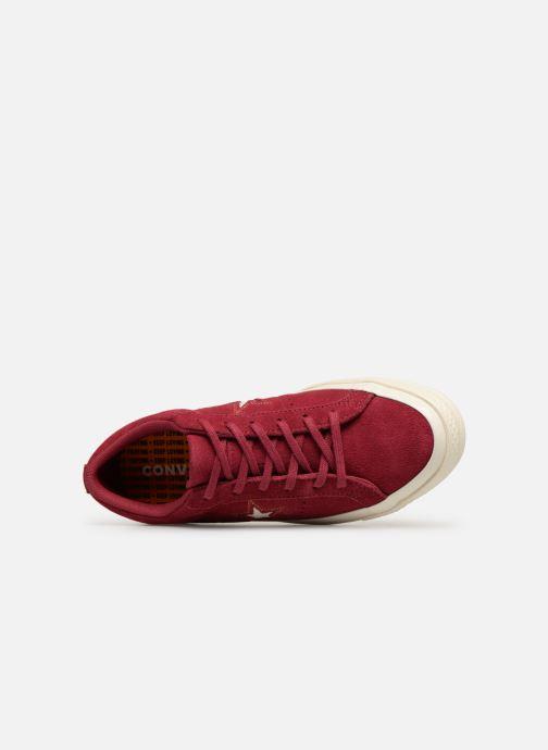 Sneakers Converse One Star Love in The Details Ox Vinröd bild från vänster sidan