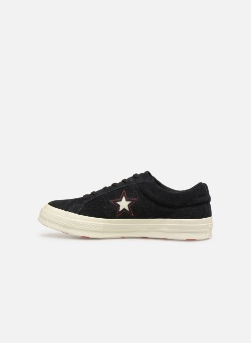 Trainers Converse One Star Love in The Details Ox Black front view
