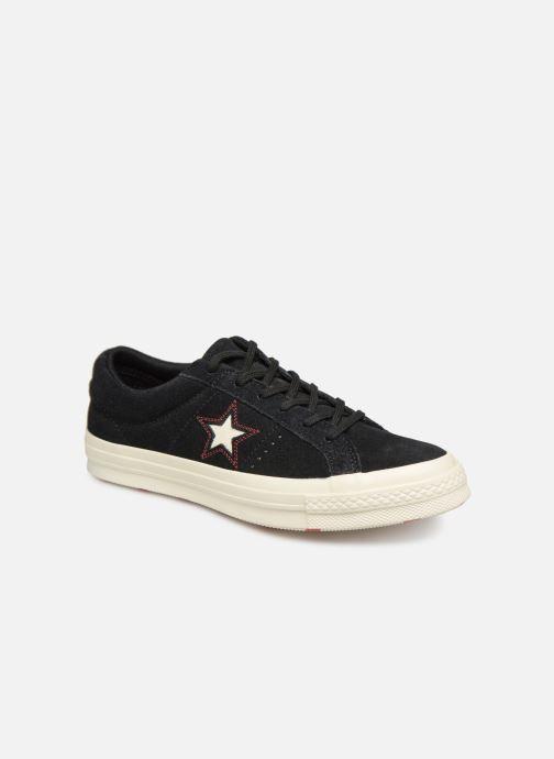Deportivas Converse One Star Love in The Details Ox Negro vista de detalle / par