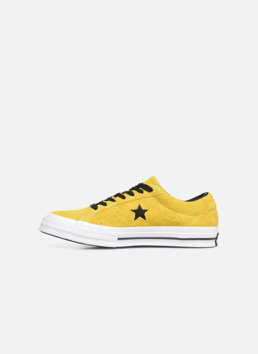 Baskets Converse One Star Dark Star Vintage Suede Ox Jaune vue face