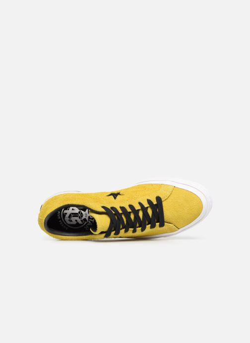 Trainers Converse One Star Dark Star Vintage Suede Ox Yellow view from the left