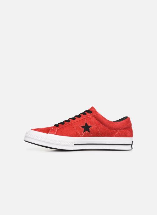 Baskets Converse One Star Dark Star Vintage Suede Ox Rouge vue face