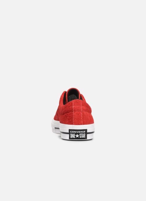 Sneakers Converse One Star Dark Star Vintage Suede Ox Röd Bild från höger sidan