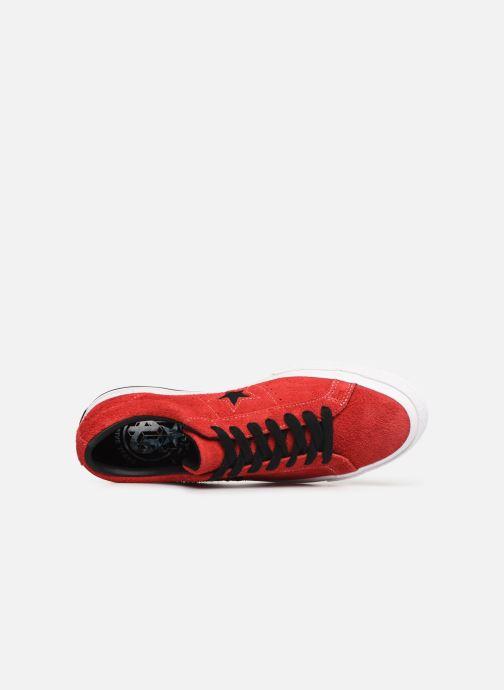 Sneaker Converse One Star Dark Star Vintage Suede Ox rot ansicht von links