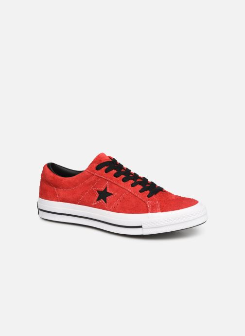 Sneakers Converse One Star Dark Star Vintage Suede Ox Röd detaljerad bild på paret