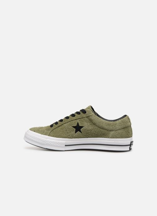 Trainers Converse One Star Dark Star Vintage Suede Ox Green front view