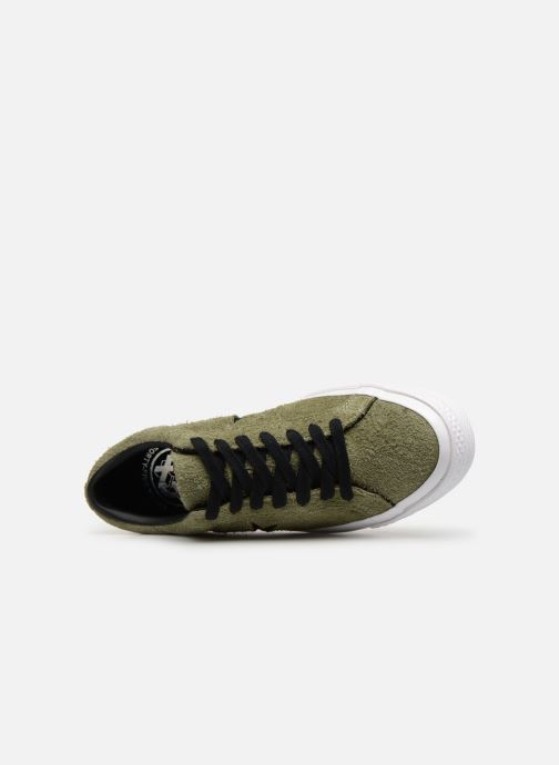 Trainers Converse One Star Dark Star Vintage Suede Ox Green view from the left