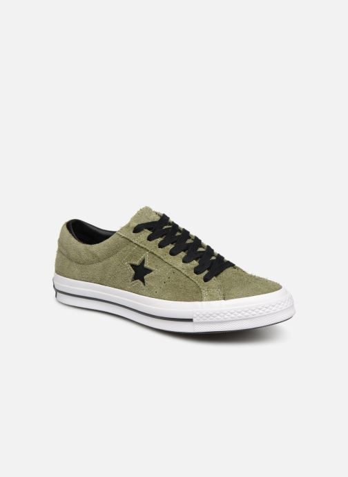 Trainers Converse One Star Dark Star Vintage Suede Ox Green detailed view/ Pair view
