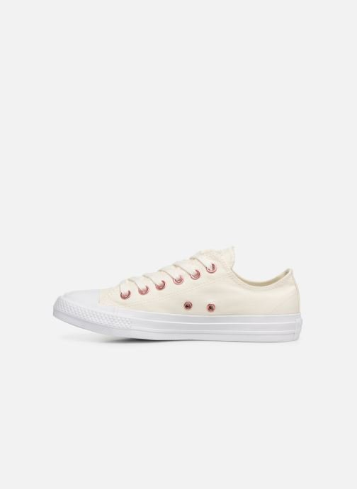 Baskets Converse Chuck Taylor All Star Hearts Ox Blanc vue face