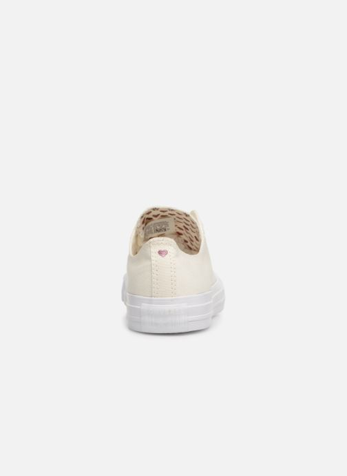 Baskets Converse Chuck Taylor All Star Hearts Ox Blanc vue droite