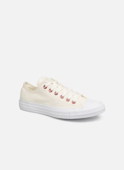 e01019a7a3f23 Baskets Converse Chuck Taylor All Star Hearts Ox Blanc vue détail paire