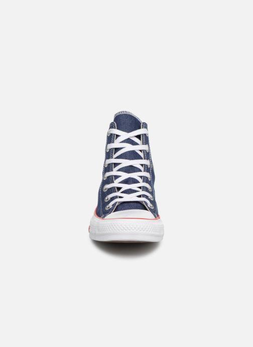 Sneaker Converse Chuck Taylor All Star Sucker for Love Hi blau schuhe getragen