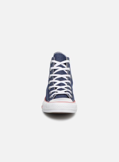 Baskets Converse Chuck Taylor All Star Sucker for Love Hi Bleu vue portées chaussures