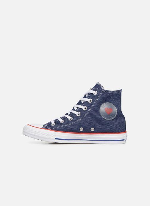 Sneaker Converse Chuck Taylor All Star Sucker for Love Hi blau ansicht von vorne