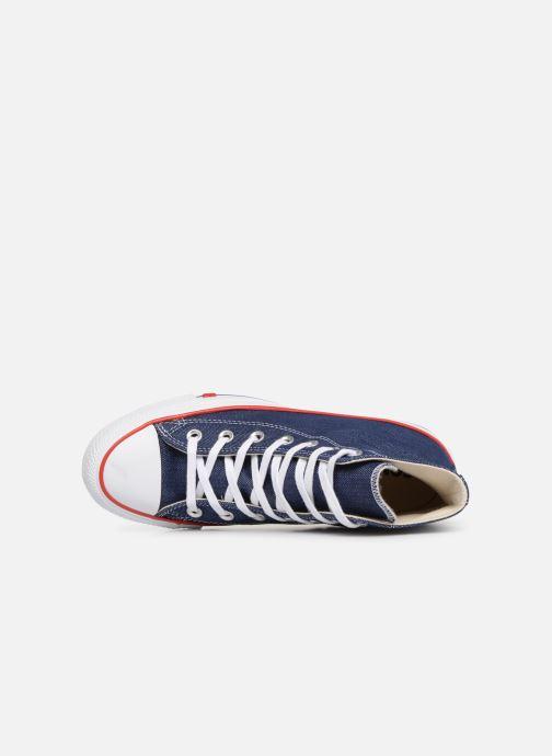 Sneaker Converse Chuck Taylor All Star Sucker for Love Hi blau ansicht von links
