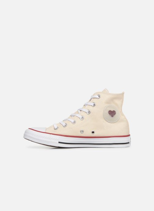 Deportivas Converse Chuck Taylor All Star Sucker for Love Hi Beige vista de frente
