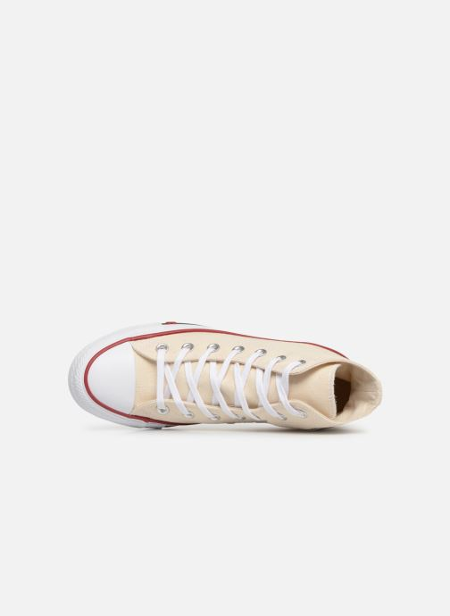 Deportivas Converse Chuck Taylor All Star Sucker for Love Hi Beige vista lateral izquierda