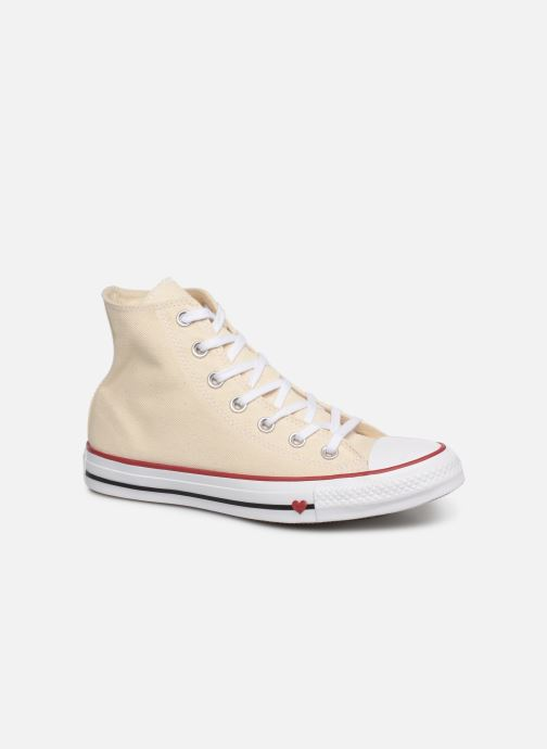 Deportivas Converse Chuck Taylor All Star Sucker for Love Hi Beige vista de detalle / par