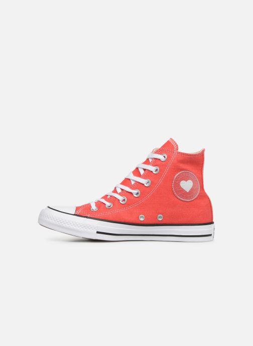 Sneaker Converse Chuck Taylor All Star Sucker for Love Hi rot ansicht von vorne