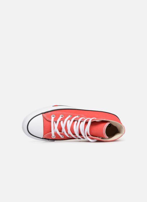 Sneaker Converse Chuck Taylor All Star Sucker for Love Hi rot ansicht von links