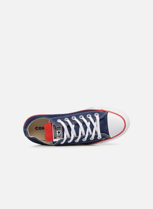 Sneaker Converse Chuck Taylor All Star Sucker for Love Ox blau ansicht von links