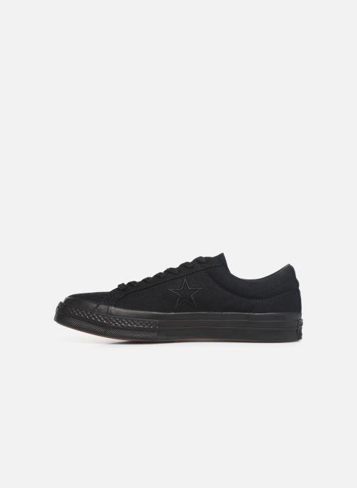 Sneaker Converse One Star Canvas Seasonal Color Ox schwarz ansicht von vorne