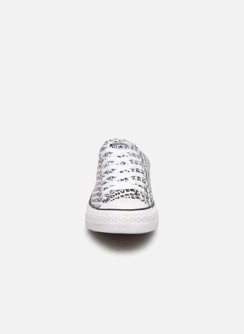 Baskets Converse Chuck Taylor All Star Wordmark 2.0 Ox W Noir vue portées chaussures