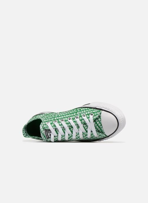Baskets Converse Chuck Taylor All Star Wordmark 2.0 Ox Vert vue gauche