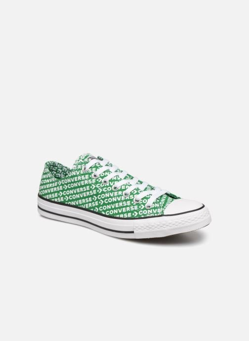 Trainers Converse Chuck Taylor All Star Wordmark 2.0 Ox Green detailed view/ Pair view