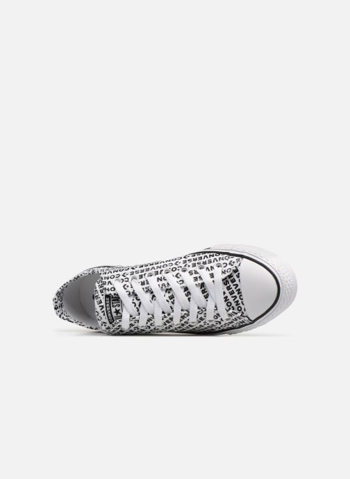 Sneaker Converse Chuck Taylor All Star Wordmark 2.0 Ox weiß ansicht von links