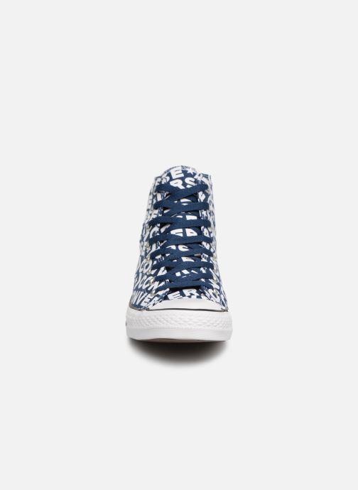 Baskets Converse Chuck Taylor All Star Wordmark 2.0 Hi Bleu vue portées chaussures