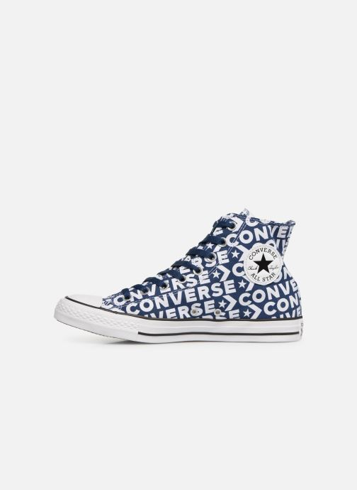 Trainers Converse Chuck Taylor All Star Wordmark 2.0 Hi Blue front view