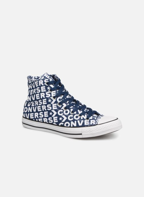 Trainers Converse Chuck Taylor All Star Wordmark 2.0 Hi Blue detailed view/ Pair view
