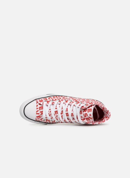 Trainers Converse Chuck Taylor All Star Wordmark 2.0 Hi Red view from the left