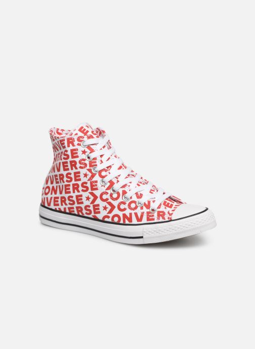 Baskets Converse Chuck Taylor All Star Wordmark 2.0 Hi Rouge vue détail/paire