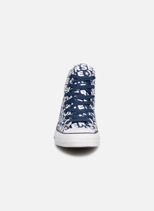 Baskets Converse Chuck Taylor All Star Wordmark 2.0 Hi W Bleu vue portées chaussures