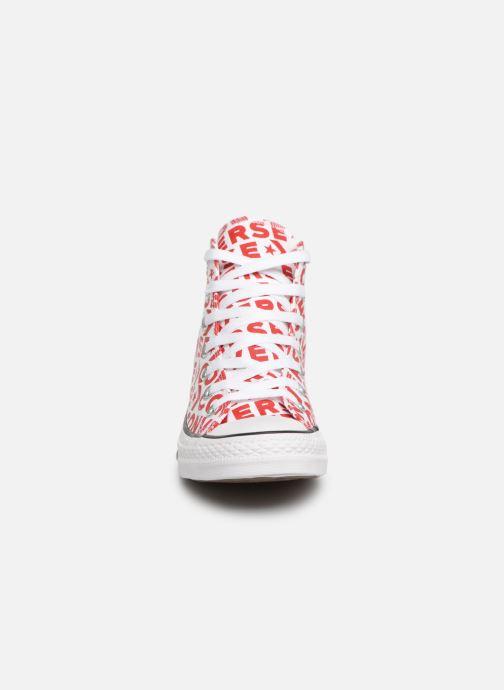 Baskets Converse Chuck Taylor All Star Wordmark 2.0 Hi W Rouge vue portées chaussures
