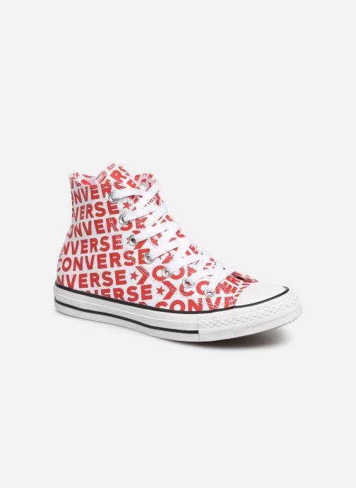 Baskets Converse Chuck Taylor All Star Wordmark 2.0 Hi W Rouge vue détail/paire