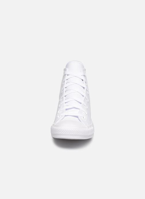 Baskets Converse Chuck Taylor All Star  Hi W Blanc vue portées chaussures